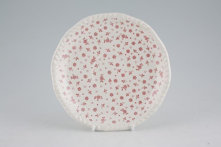 Adams - Sprig - Pink - Soup Cup Saucer