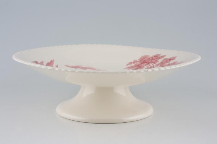 Johnson Brothers - Castle on the Lake - Pink - Cake Plate - pedestal