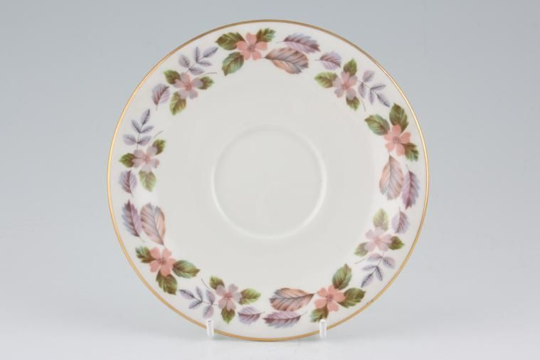 Aynsley - April Rose - Straight Edge - Breakfast Saucer