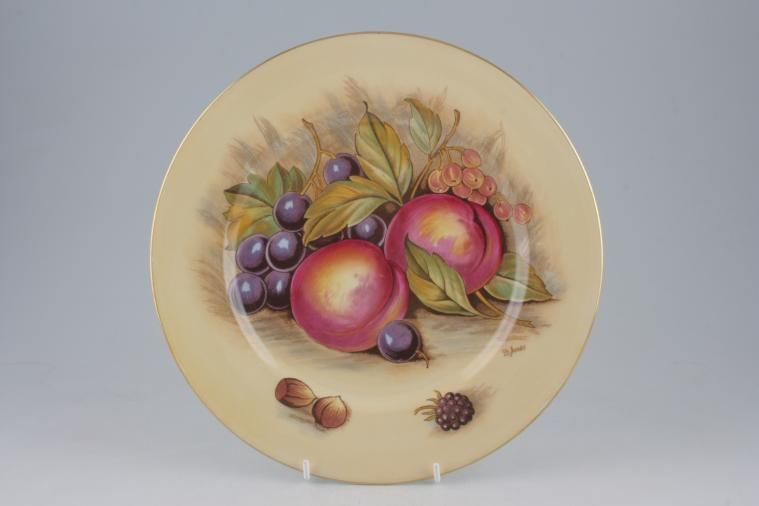 Aynsley - Orchard Gold - Dinner Plate - plums and grapes design D Jones