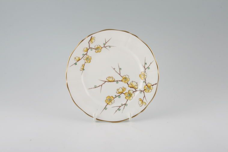Adderley + Royal Adderley - Chinese Blossom - Yellow - Tea / Side / Bread & Butter Plate