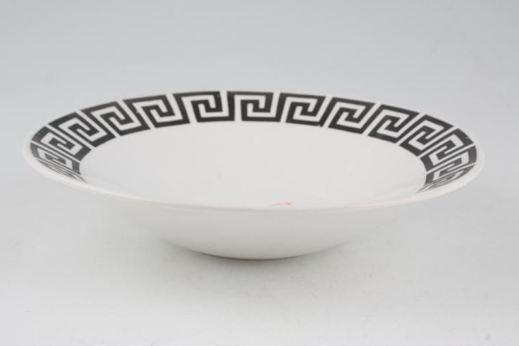 Portmeirion - Greek Key - White + Black - Oatmeal / Cereal / Soup
