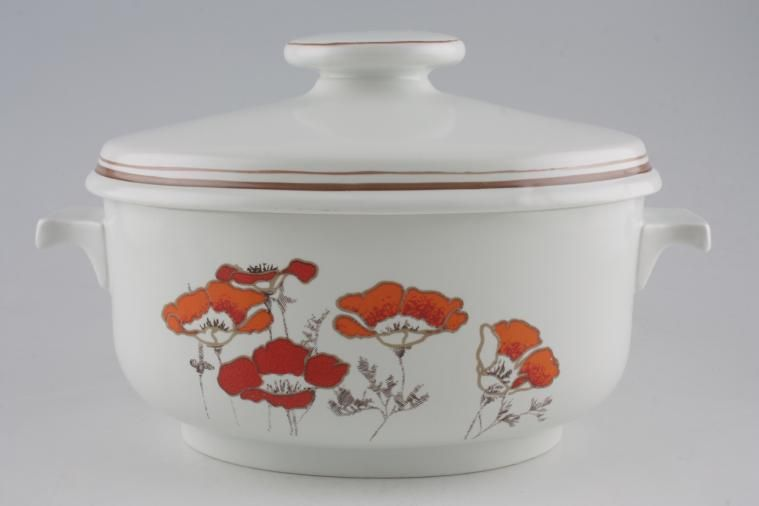 Royal Doulton - Fieldflower - L.S.1019 - Casserole Dish + Lid - oval, lugged