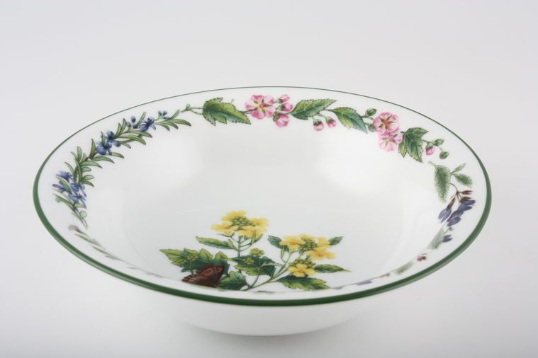 Royal Worcester - Worcester Herbs - Oatmeal / Cereal / Soup - Flared Rim - Made in England