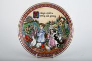 """Royal Worcester - Days Of The Week - Modern - Wall Plate - 7 3/8"""" - Friday, Birthday Plates"""