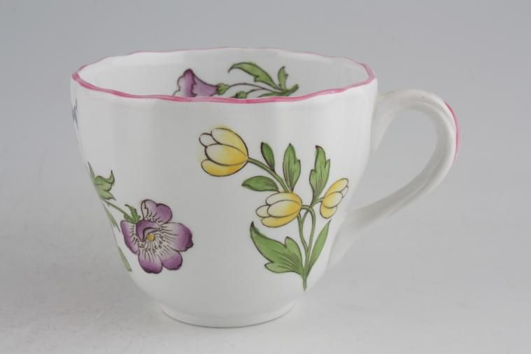Spode - Marlborough Sprays - Teacup - Flower A - Rose