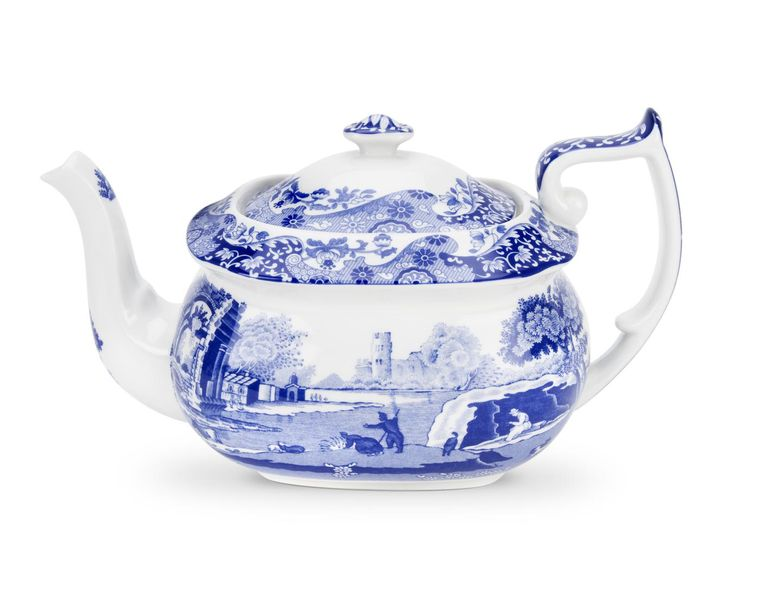 Spode - Italian - Blue - New Backstamp - Teapot with Lid