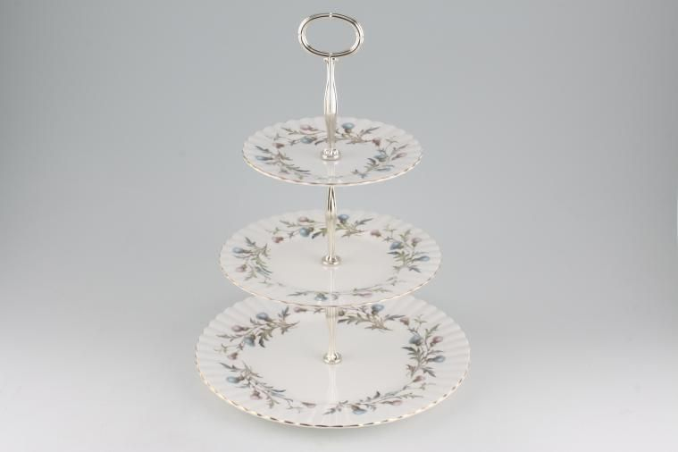 Various - Cake Stands - Cake Stand - 73 - 3 tier Royal Albert 'Brigadoon' 10