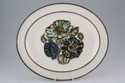 "Wedgwood - Iona - Oval Plate / Platter - 11 3/4"" - rimmed"